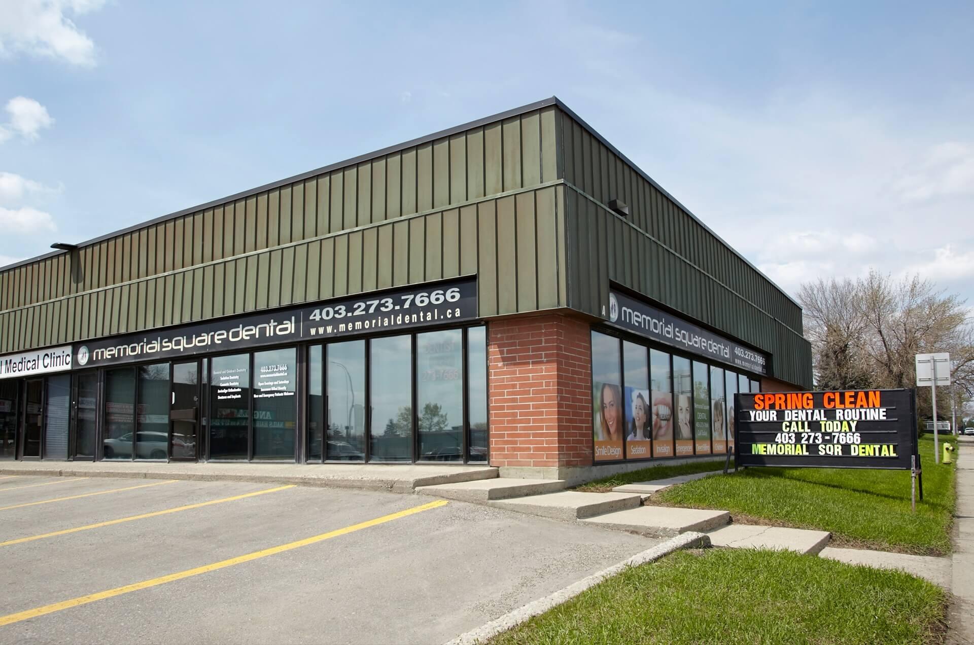 Exterior   Memorial Square Dental   NE Calgary Dentist